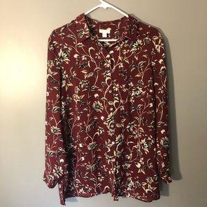 J.Jill large women's petite blouse